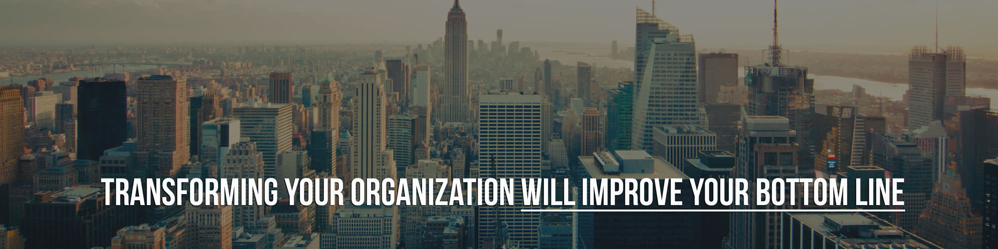 Transforming your organization will improve your bottom line